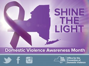 Shine the Light on Domestic Violence Poster 2016